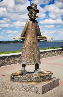 Grotesque sculpture of Anton Chekhov in Tomsk