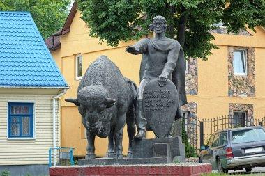 Monument of Vladimir Vasilkovich, prince of Volhynia, in Kamenet