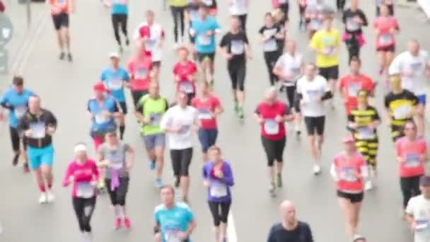 People running at half Marathon event
