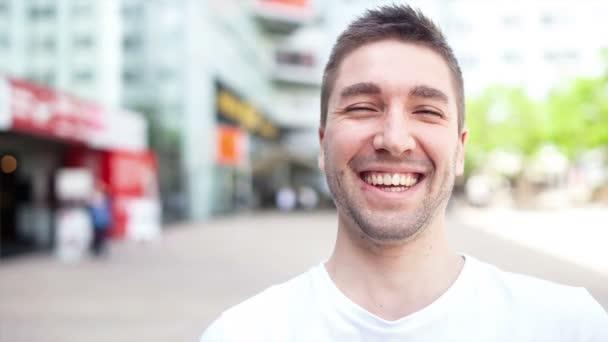 Video portrait of confident man