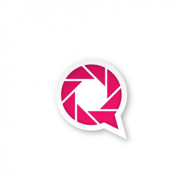 Pink photography logo