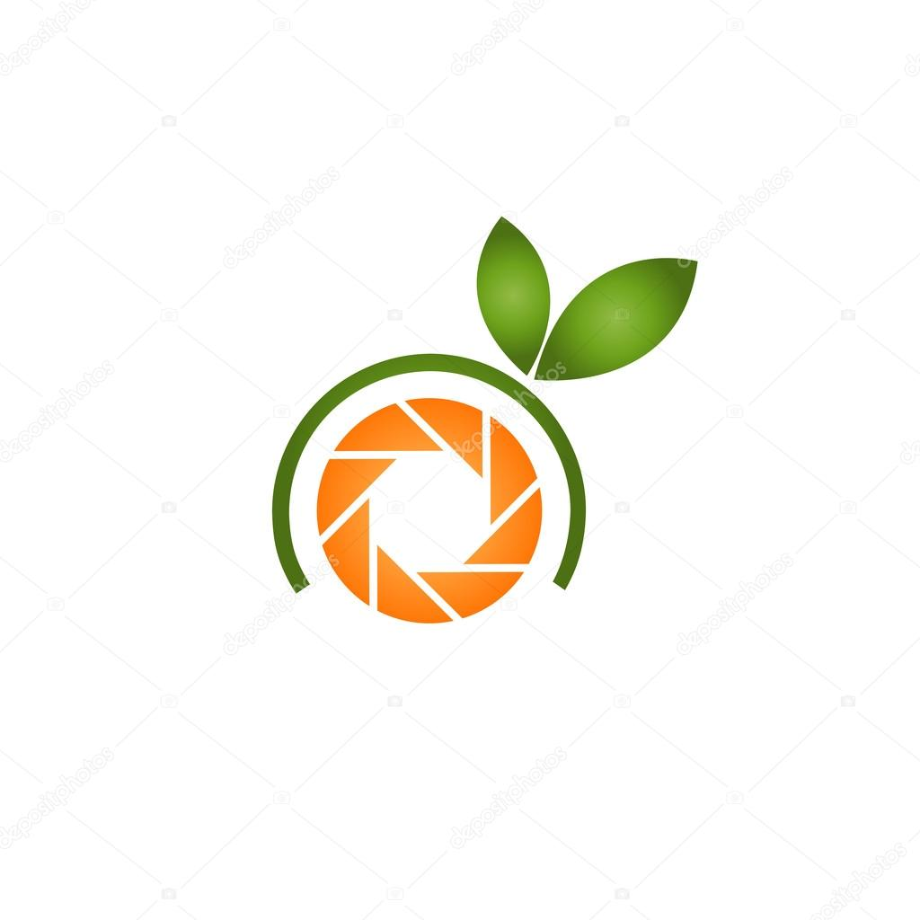Orange photography logo