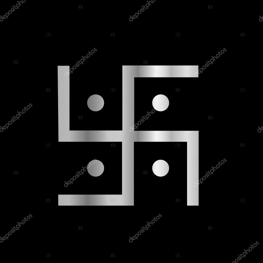Symbol of Hinduism Swastika — Stock Vector
