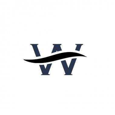 Alphabet logo design, letter W