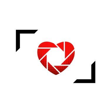 Heart shaped logo for photographers