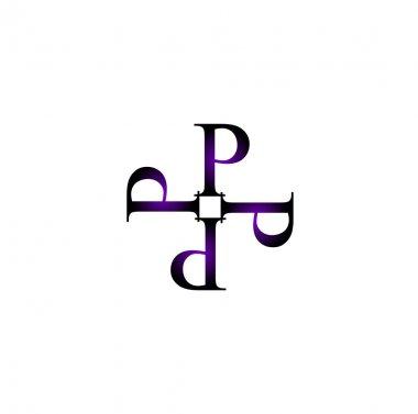 Artwork with alphabet P