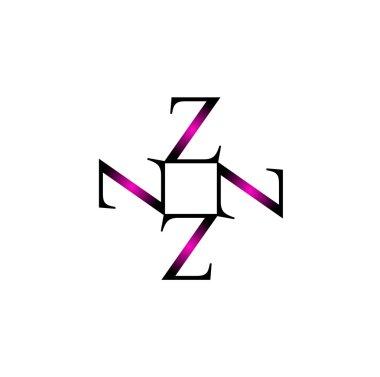 Artwork with alphabet Z