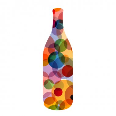 Bottle with colorful dots