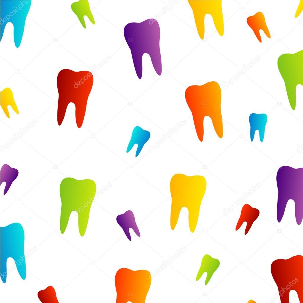 Colorful Dental Wallpaper Stock Vector