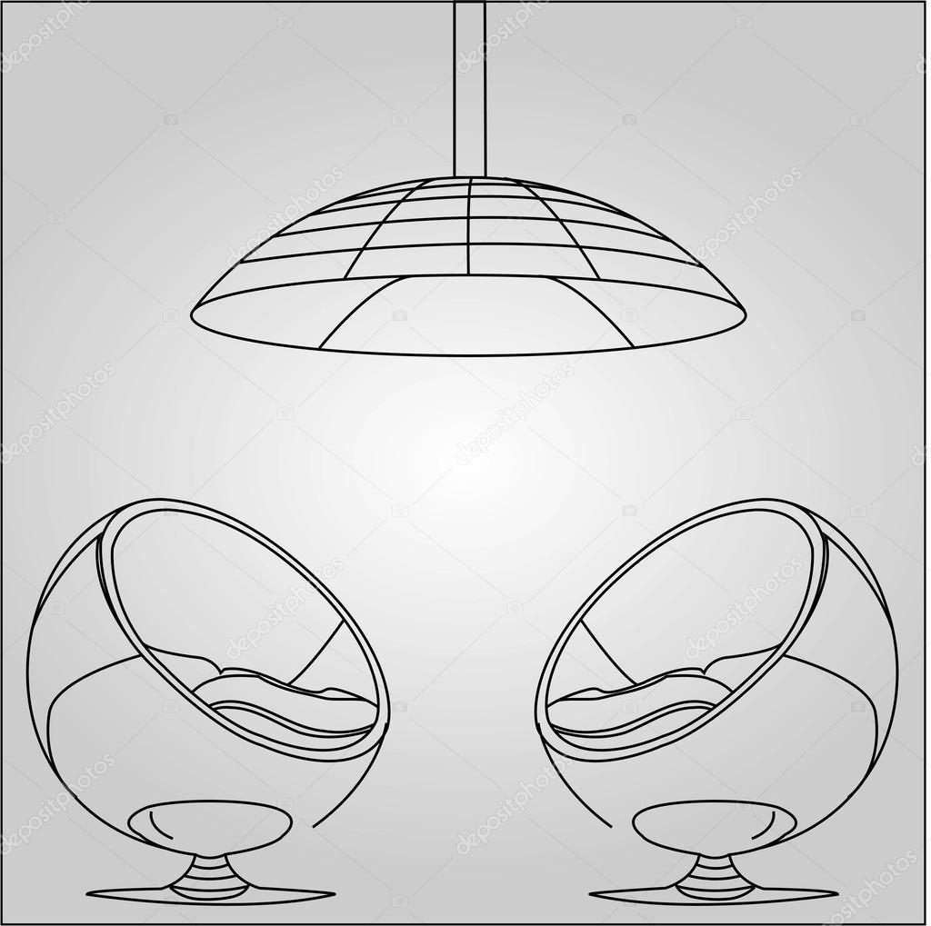 Interior Design Sketched Stock Vector 30701095