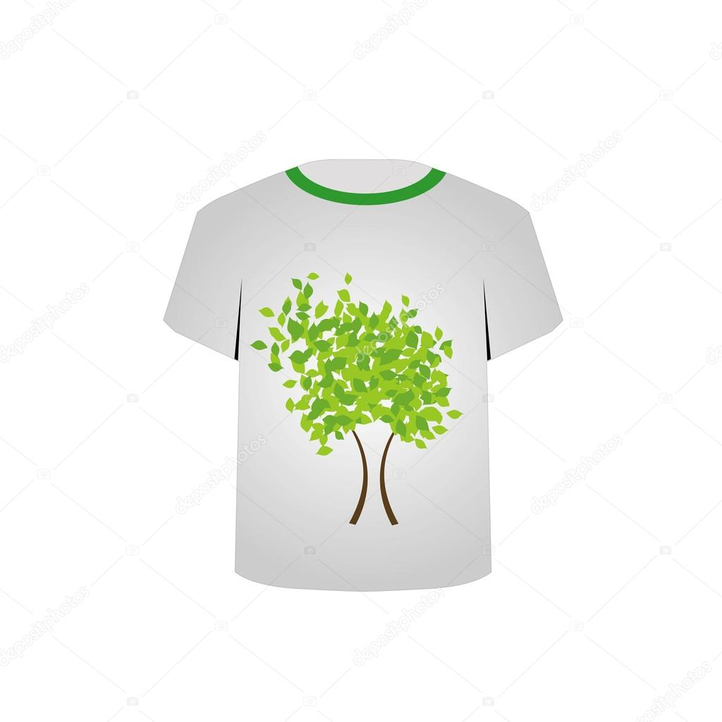 T Shirt Template- Spring tree