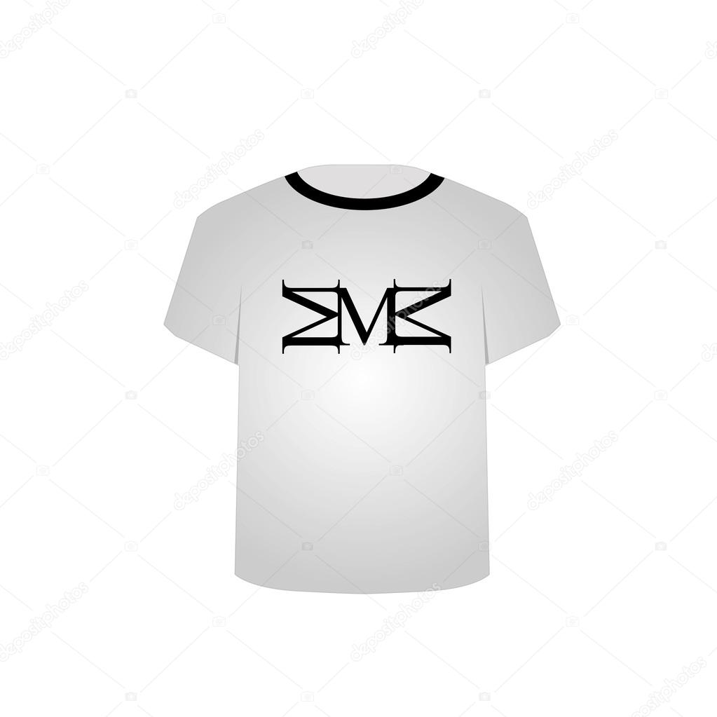 Koszulka Do Druku Grafiki Litera M Grafika Wektorowa Sanayamirza