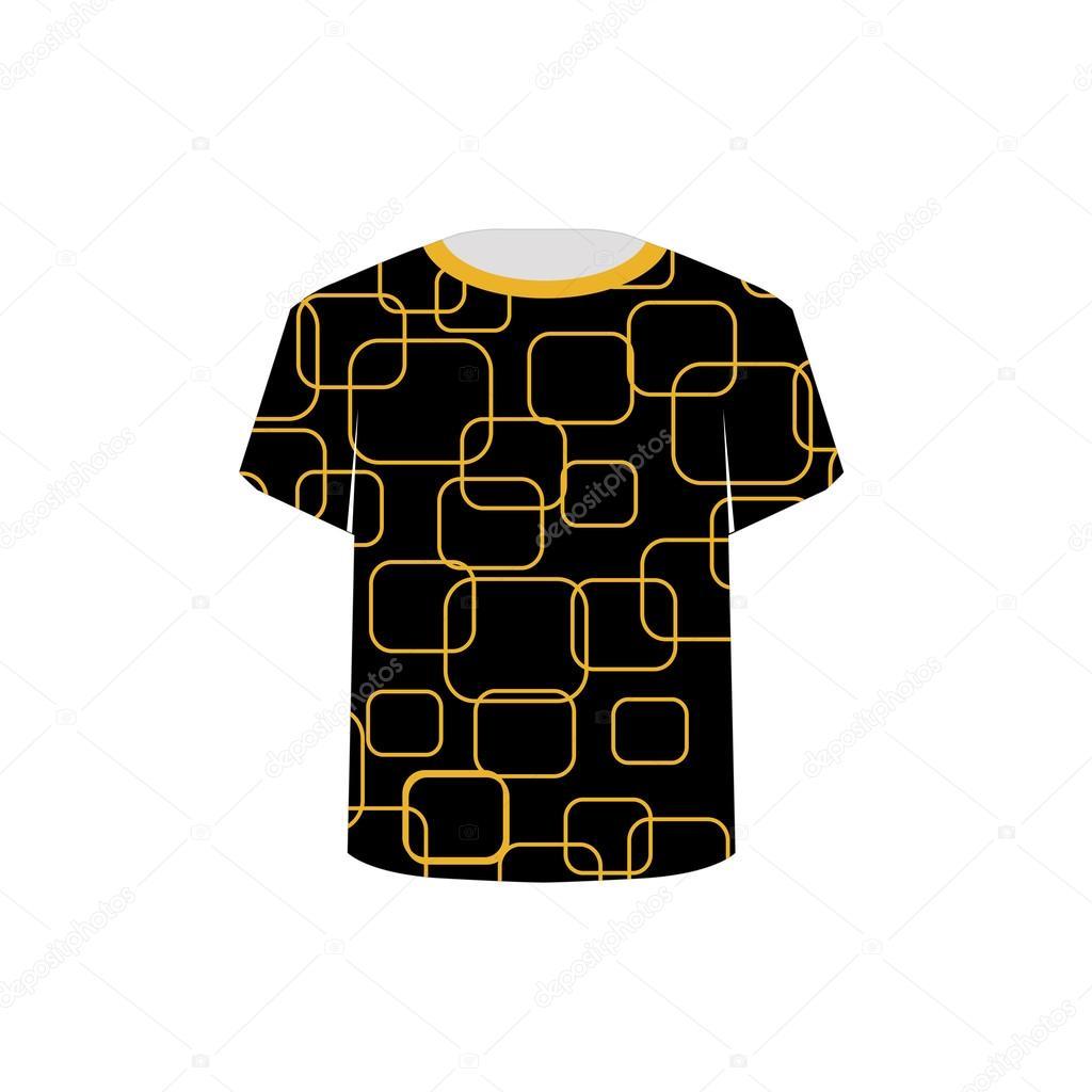 T Shirt Template Printable Tshirt Graphic Stock Vector