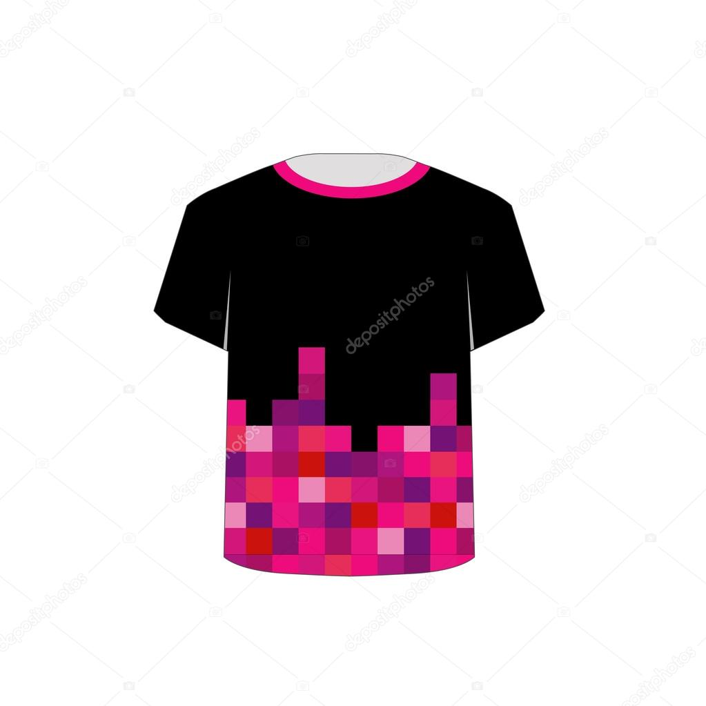 arte t camisa plantilla-pixel — Archivo Imágenes Vectoriales ...