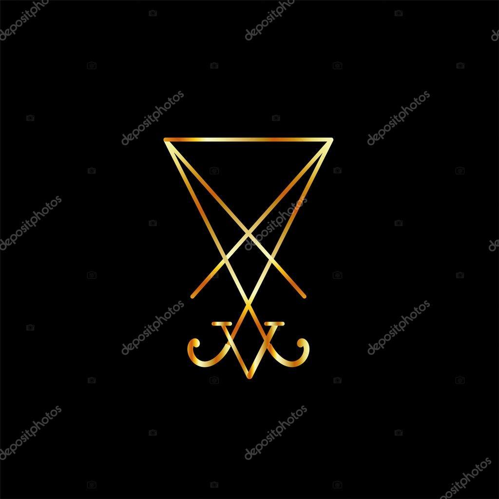 Sigil Of Lucifer A Symbol Of Satanism Stock Vector Sanayamirza