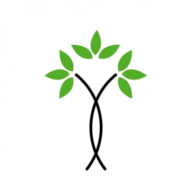 Tree with green leaves- Logo concept