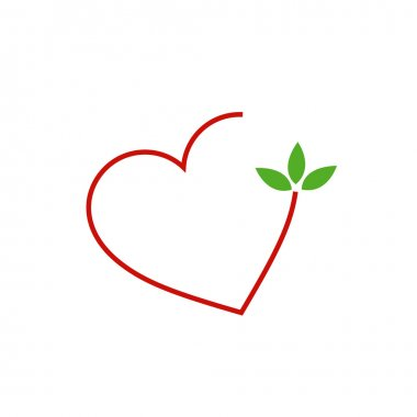 Hearts with leaves gathered in one place-Love for nature