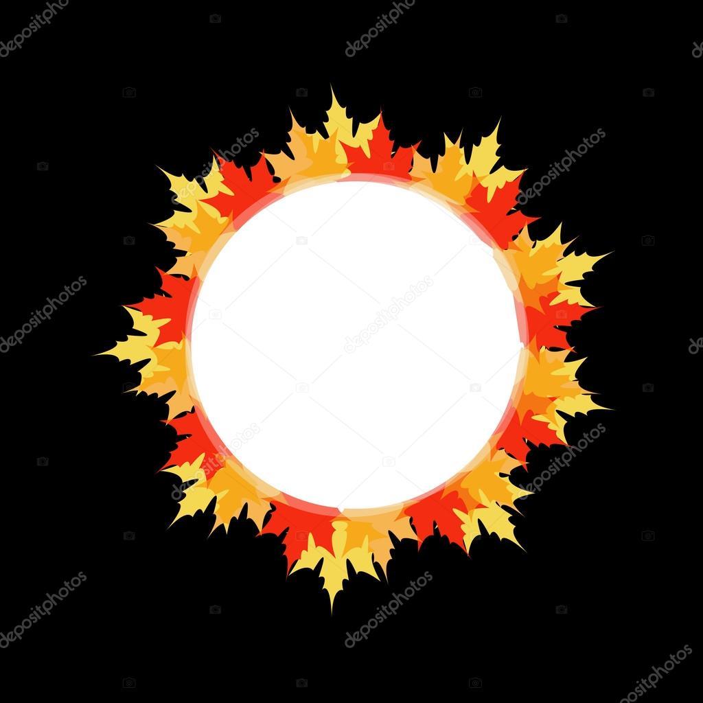 Kunstwerk oder Rahmen mit roten und gelben Ahorn Blätter ...
