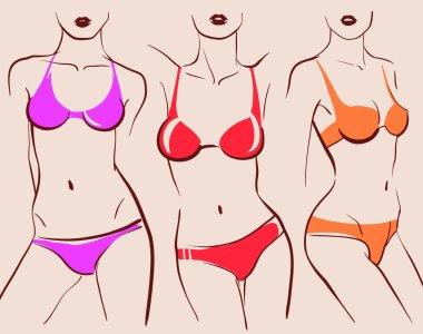 beautiful woman bodies in bikini