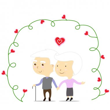 An old couple in love