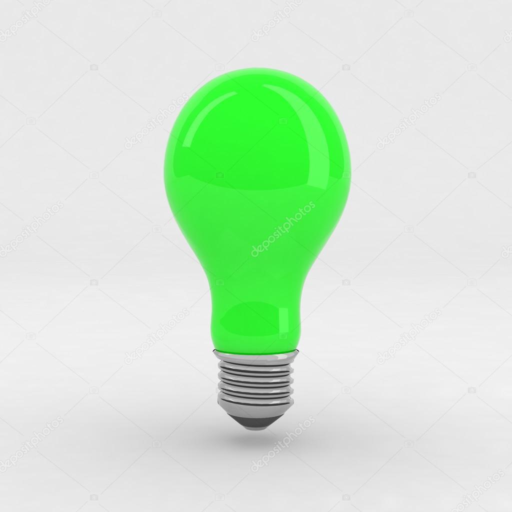 Green Light Bulb Stock Photo 16982555
