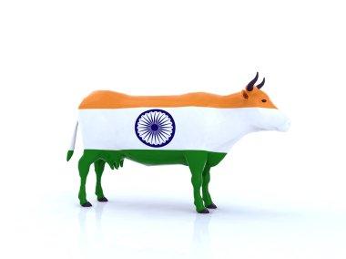 indian cow 3d