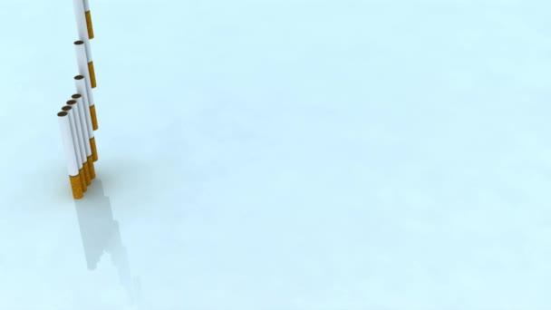 schriftliche Tod mit Zigaretten, 3d animation