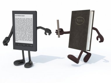 relay between old book and electroni book reader