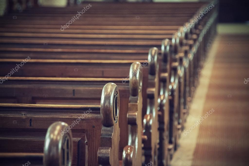 An image of a church pew stock vector