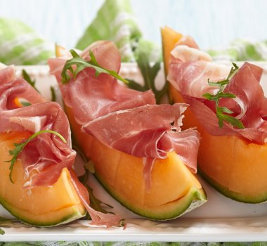 Fresh Melon with Prosciutto