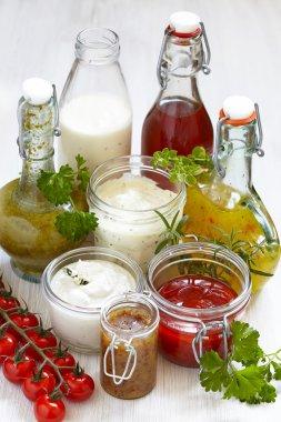 Assortment of salad dressings