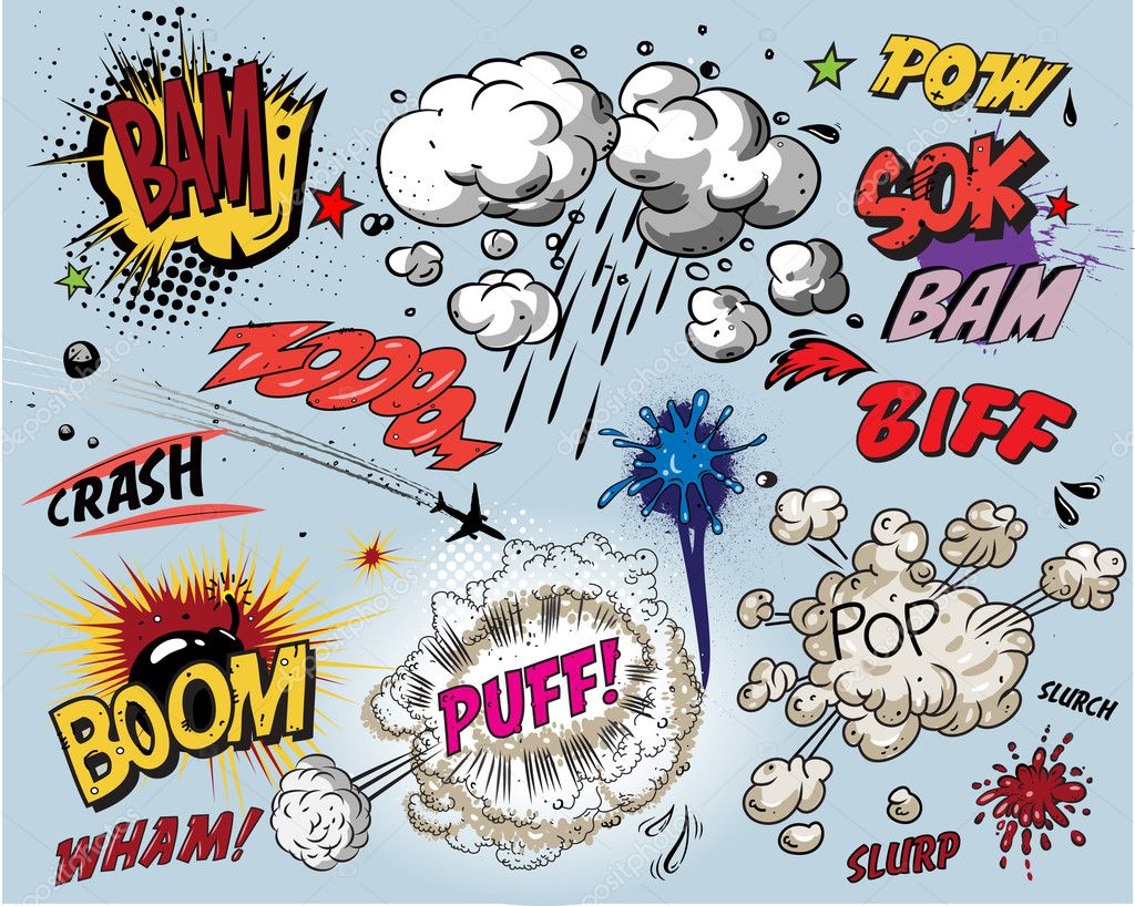 Comic book - words