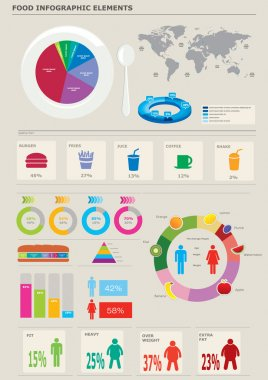 Food infographics elements.