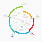 Business infografiky kruh prvky