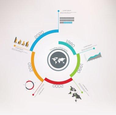 Spiral Timeline Infographics.