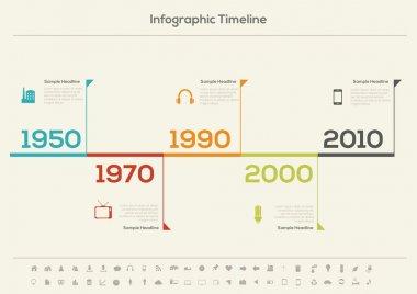 Retro Timeline Infographic.