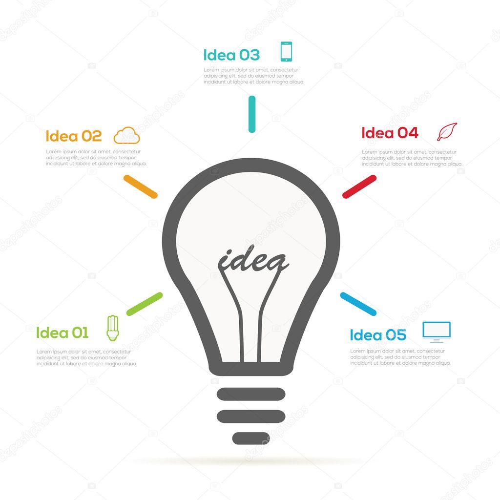 Infographic light bulb