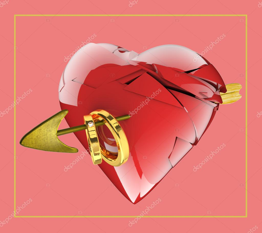 сердечко очередное знакомства новые разбито и колечки