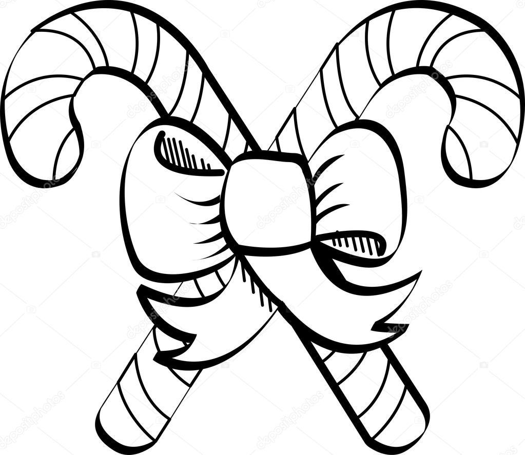 Line Art Xl 2000 : Candy cane clip art — stock vector clipartguy