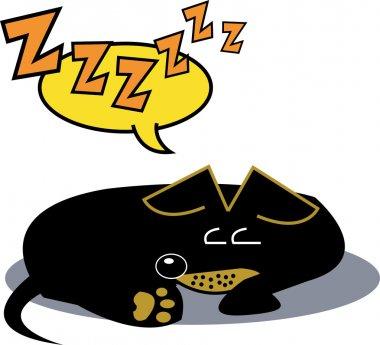 Cartoon sleeping dog