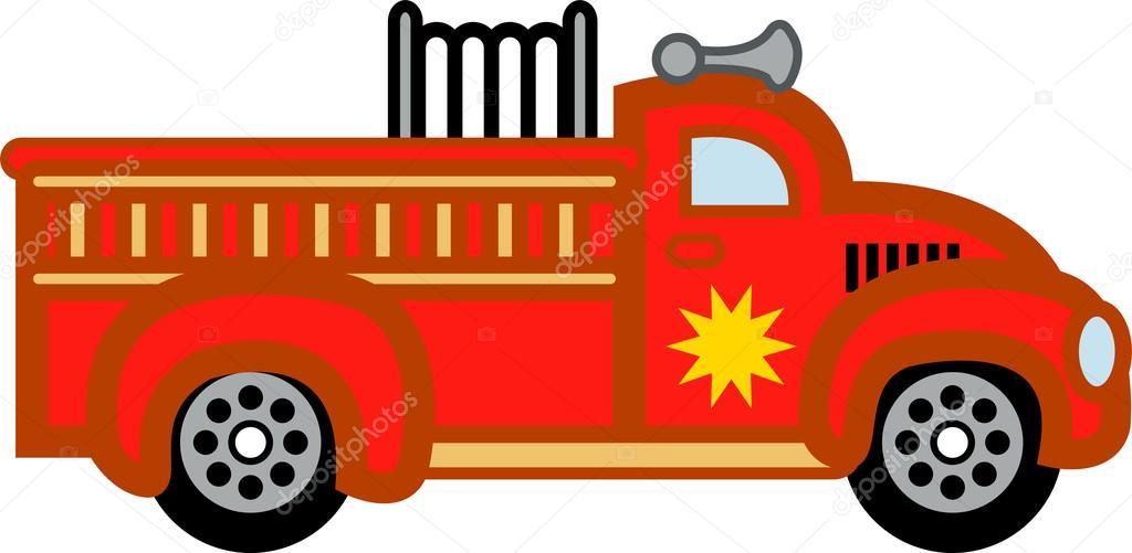 camion de pompier dessin anim image vectorielle clipartguy 17253543. Black Bedroom Furniture Sets. Home Design Ideas