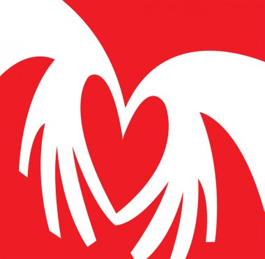 Pair Of Hands Coming Together To Form The Shape Of A Heart stock vector