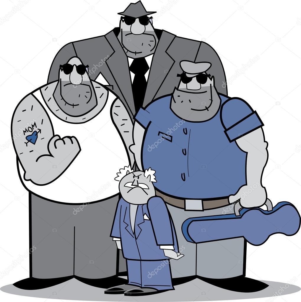 Group Of Mafia Men