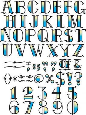 Tattoo Alphabet and Symbols