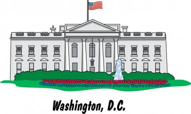 The White House Building In Washington DC