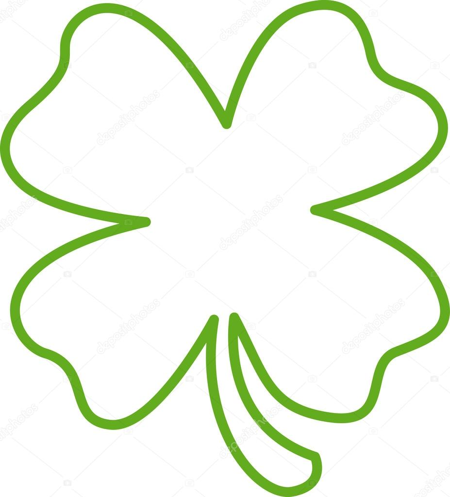 Green Lucky Four Leaf Clover
