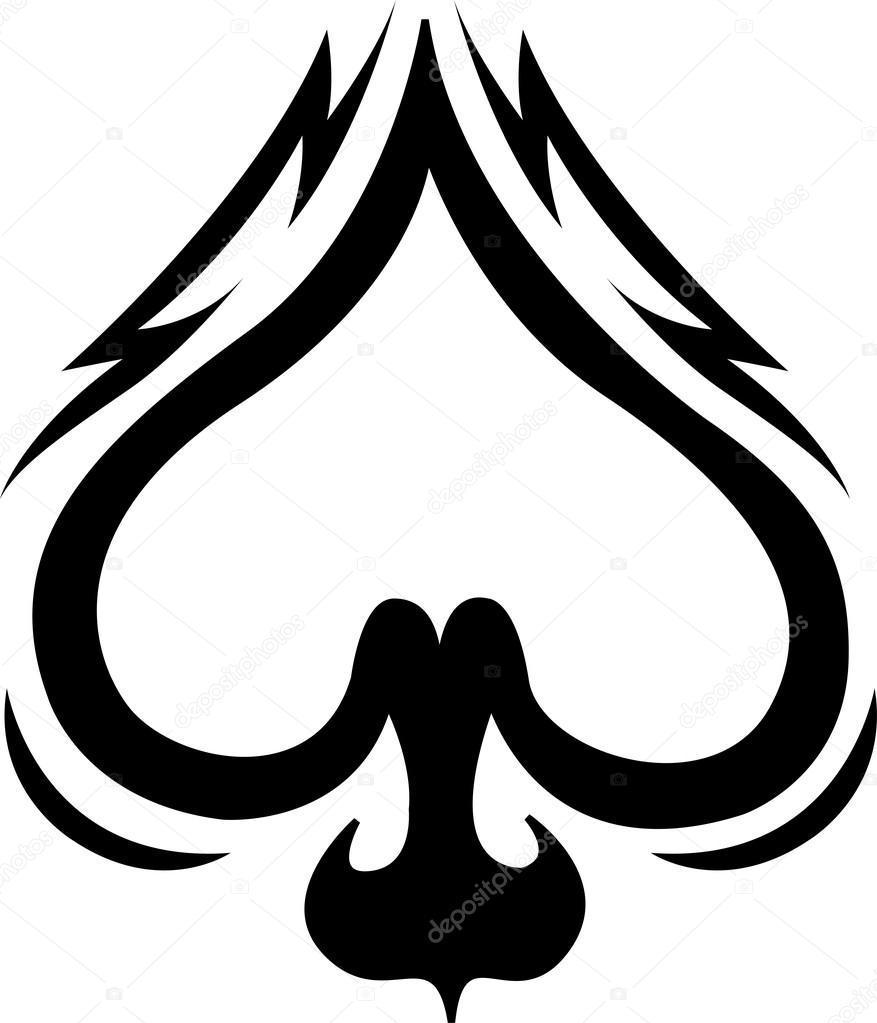 spade celtic tattoo design clip art stock vector clipartguy rh depositphotos com space clipart space clipart images