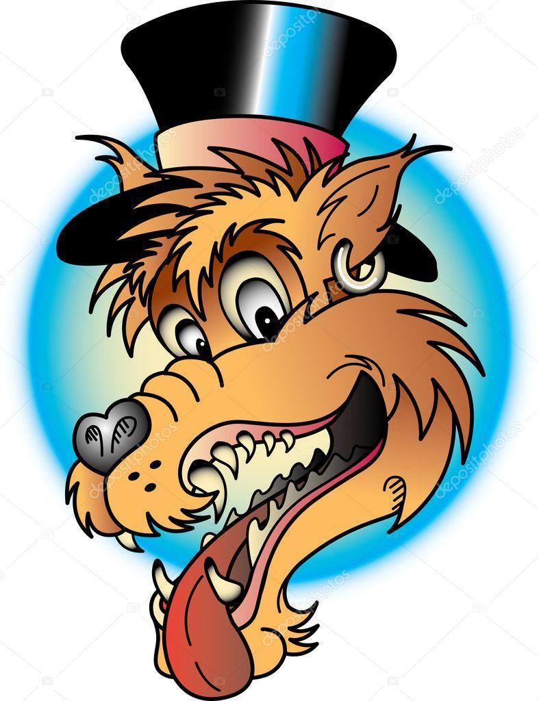 Wolf trägt eine Hut-Tattoo-design — Stockvektor © ClipArtGuy #17457739