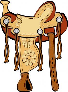 Saddle western horse