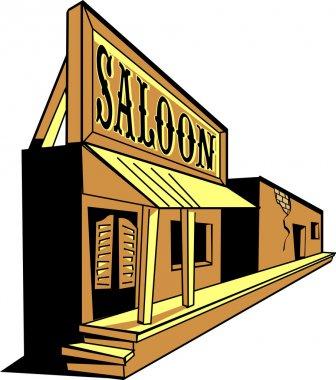 Western saloon cartoon